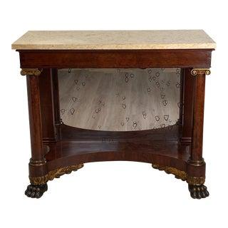 American Empire Mahogany Console Table Circa 1830 For Sale