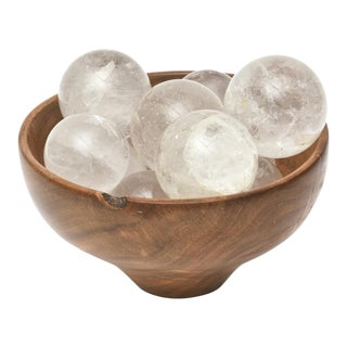 Collection of Rock Crystal Spheres For Sale