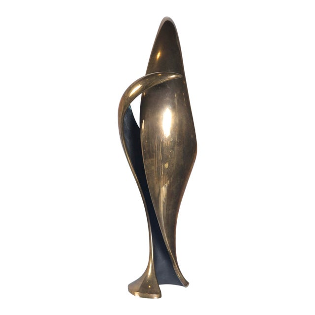1980's Vintage Cast Bronze Abstract Sculpture by Tom Bennett For Sale