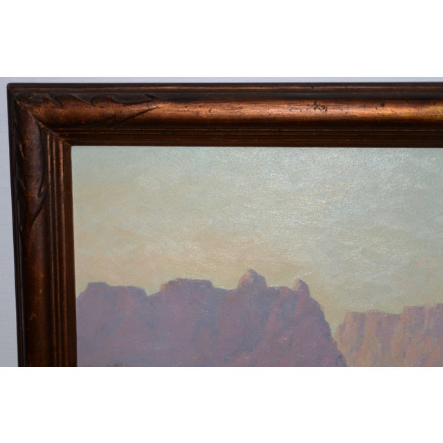 """Red Mesa, Az"" Original Desert Landscape Painting C.1940s For Sale In San Francisco - Image 6 of 13"