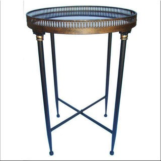 Campaign Granite Top Round Side Table Preview