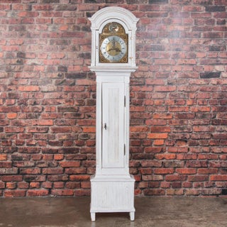 Antique Danish Gray Painted Grandfather Clock Preview