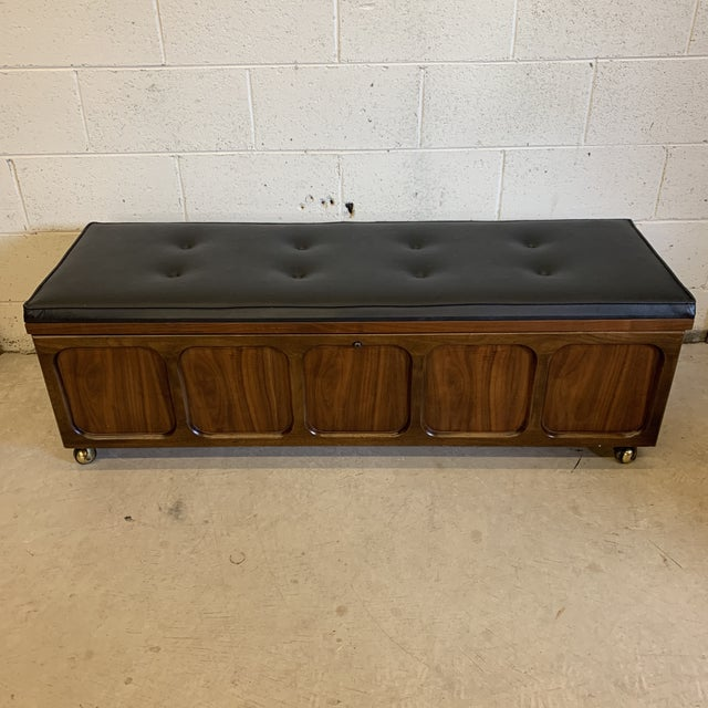 Mid Century Modern Lane Cedar Chest Bench For Sale - Image 12 of 12