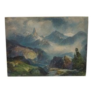 "1914 Antique ""Index Peak"" Moran Mounted Print For Sale"