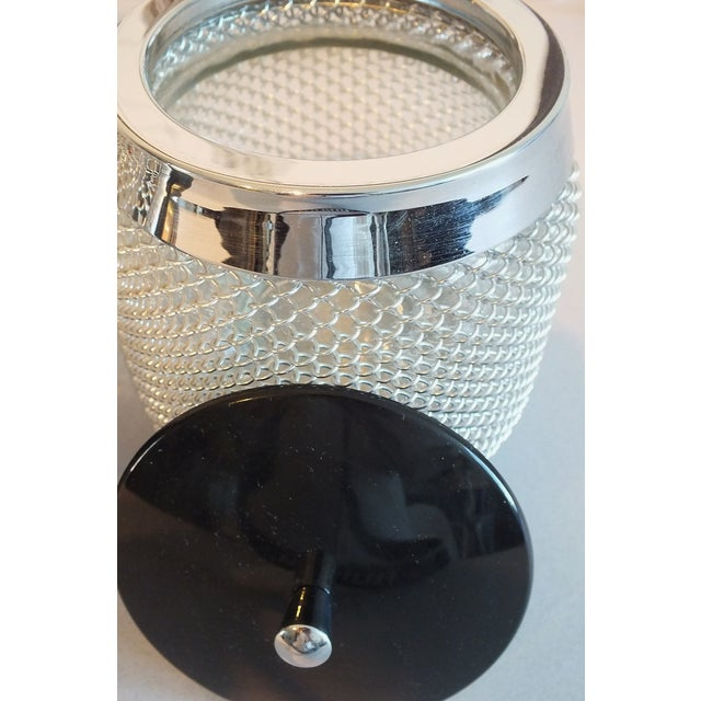 Vintage Wire Mesh Siphon Bottle & Ice Bucket -Pair - Image 5 of 11