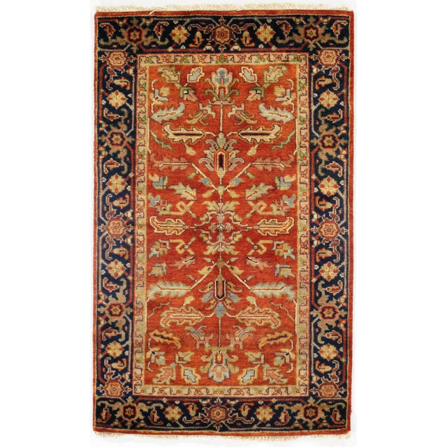 """2010s Traditional Pasargad N Y Fine Serapi Design Hand-Knotted Rug - 3'1"""" X 5' For Sale - Image 5 of 5"""