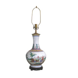 Antique Chinese Famille-Rose Porcelain Lamp