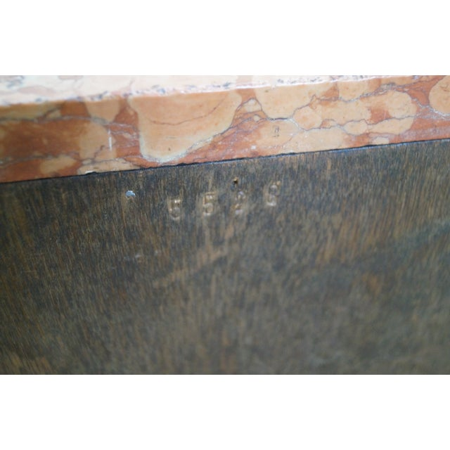 Antique Louis XV Walnut Marble Top Nightstand - Image 8 of 10