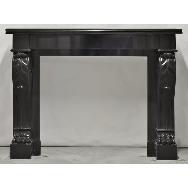 Black Napoleon III Fireplace Mantel Executed in Black Marble, 19th Century For Sale - Image 8 of 8