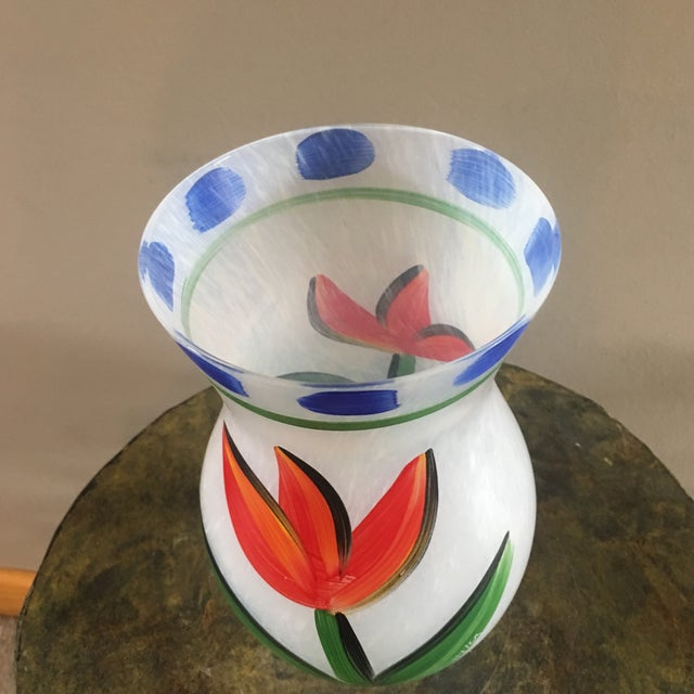 Gorgeous original Ulrica Hydman-Vallien Kosta Boda handblown and Handpainted by famed artist. Signed on piece as well as...