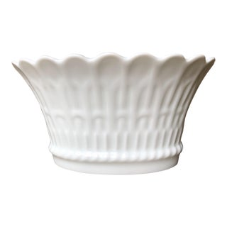 French Country Chamart Limoges White Porcelain Cachepot