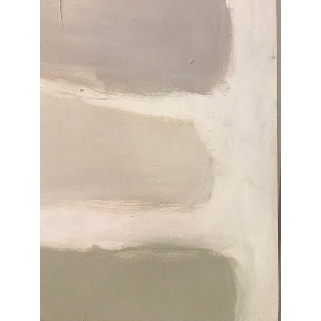 """Greige Sarah Trundle Contemporary Abstract Painting """"Color Study: Neutrals"""" For Sale - Image 8 of 10"""