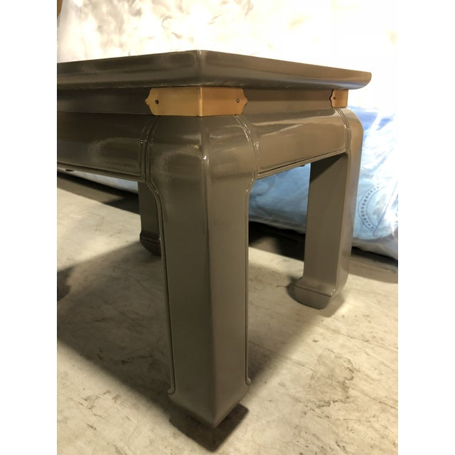 Asian Gray Lacquered Ming Side Tables - A Pair For Sale - Image 3 of 5