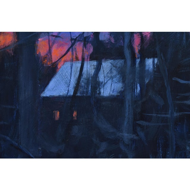 """2020s """"Sunrise From the Woods"""" Contemporary Landscape Acrylic Painting by Stephen Remick, Framed For Sale - Image 5 of 11"""
