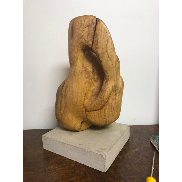 Tan 1960s Vintage Abstract Sculpture For Sale - Image 8 of 8