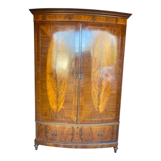 Mid 20th Century Antique Mahogany Armoire For Sale