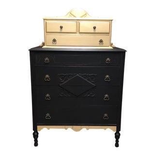 Antique Gold Painted Chest of Drawers For Sale
