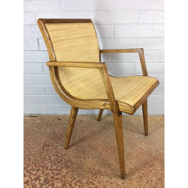 Oak Cane Sling Side Chair - Image 2 of 8