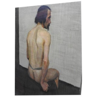"""20th Century Robert Whitmore Oil Painting, """"Male Model"""" For Sale"""
