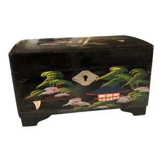 Antique Japanese Jewelry Box For Sale