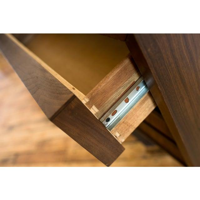 Brutalist Mid-Century Walnut Credenza Dresser - Image 6 of 7