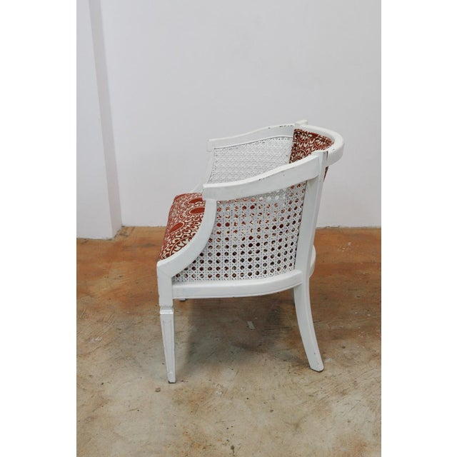 Mid-Century Rust & White Side Chairs - a Pair For Sale - Image 4 of 8