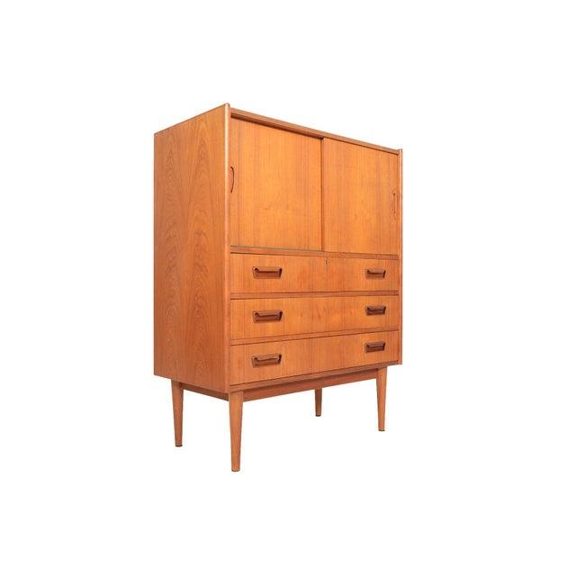 Brown Tibergaard Danish Modern Teak Bureau Dresser For Sale - Image 8 of 10