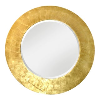 Karl Springer Style Gold Leaf Wood Beveled Mirror