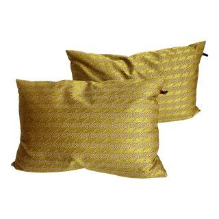 Contemporary Hella Jongerius Maharam Bolster Pillows - a Pair For Sale