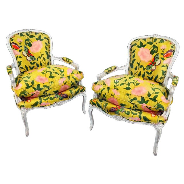 Final Markdown B. Altman & Co. New York Bergere Chairs - a Pair - Image 1 of 4