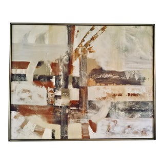 Large Abstract Mid-Century Modern Oil Painting by Lee Reynolds For Sale