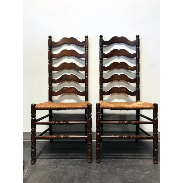 Tell City Vintage Ladder Back Dining Chairs - Set of 4 - Image 5 of 11