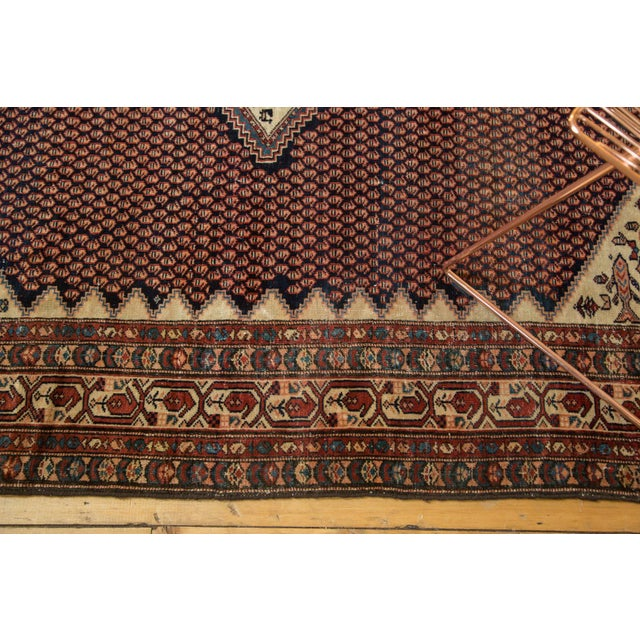 "Vintage Mission Malayer Square Rug - 5'5"" x 6'7"" For Sale In New York - Image 6 of 10"