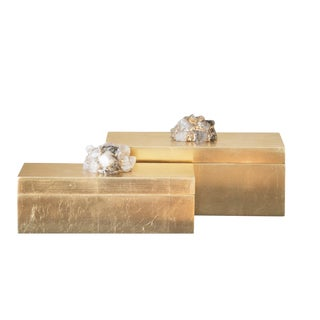 Astoria Quartz Rectangular Boxes - a Pair For Sale