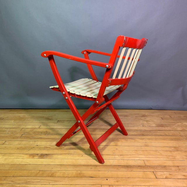 Pair Fratelli Reguitti Lacquered Folding Chair, Italy 1960s For Sale - Image 11 of 13