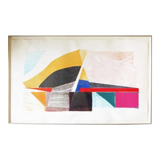 """""""Expansion"""" Abstract Lithograph by Susan Crile For Sale"""