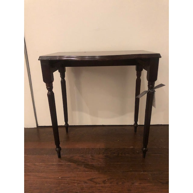 Chippendale 1970s Chippendale Mahogany Side Table For Sale - Image 3 of 4