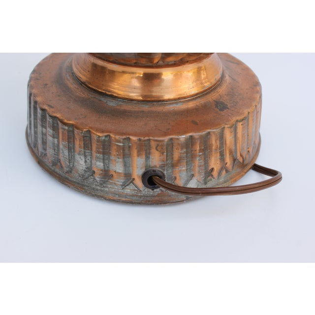 Tinned Copper Lamps - a Pair - Image 6 of 6