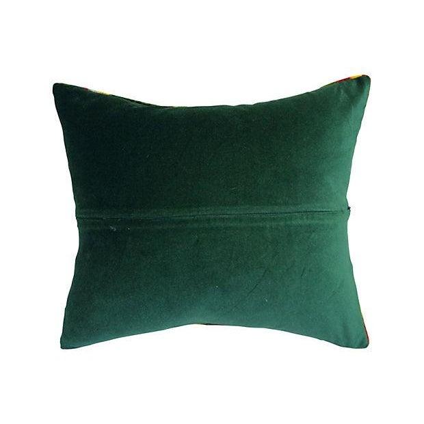 Bohemian Velvet Ikat Pillow For Sale - Image 5 of 5