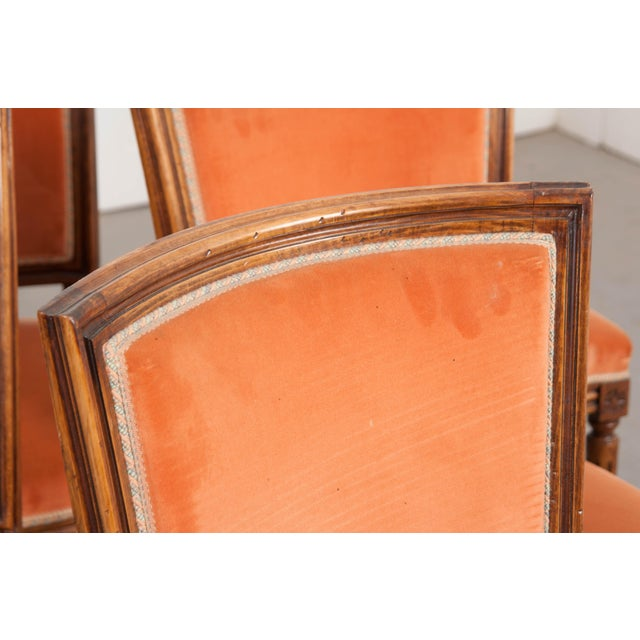Wood French 19th Century Louis XVI-Style Walnut Sidechairs-Set of 6 For Sale - Image 7 of 12