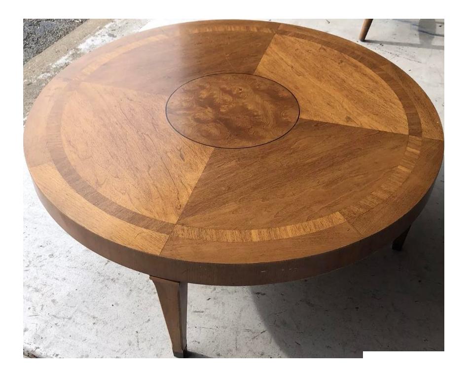 Lane Mid Century Modern Inlaid Burl U0026 Walnut Coffee Table
