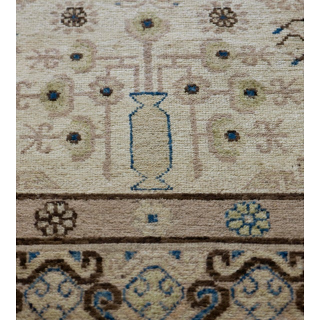 MANSOUR Mid 19th Century Handwoven Khotan Wool Rug For Sale - Image 4 of 5