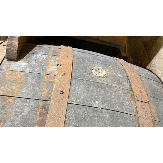 Continental Cognac Barrels - 5 Piece Set For Sale In Dallas - Image 6 of 9