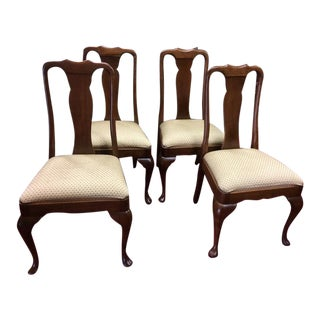 Vintage Stickley Cherry Dining Chairs - Set of 4 For Sale
