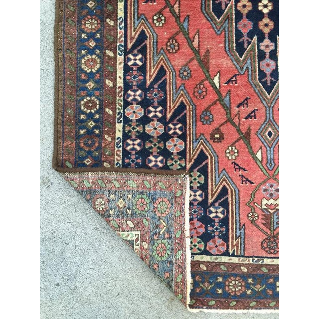 "Vintage Persian Rug - 4'2"" X 6'3"" - Image 6 of 7"