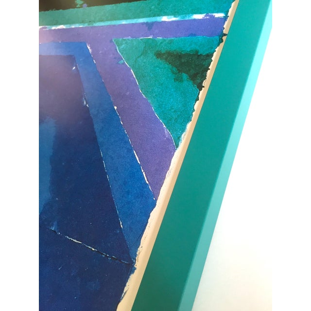 """David Hockney Rare Vintage 1988 Iconic Lithograph Print Framed Exhibition Poster """" Day Pool With Three Blues """" 1978 For Sale - Image 10 of 13"""