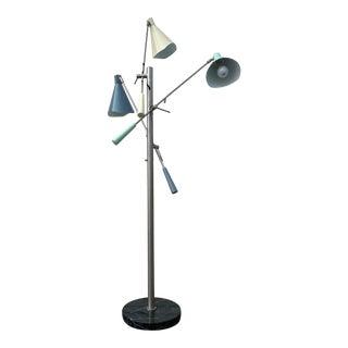 Three - Arm Floor Lamp Style of Stilnovo For Sale