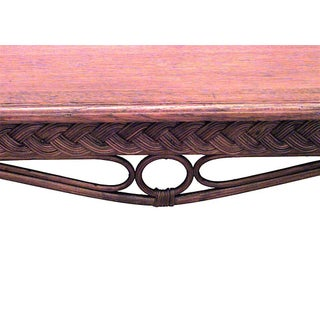 American Mission Natural Wicker Davenport Table Preview