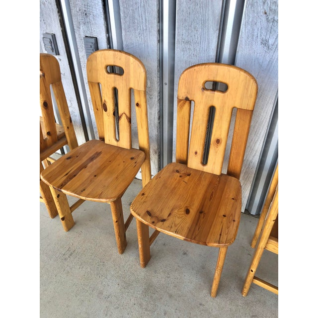 French 1970's French Dining Chairs For Sale - Image 3 of 6