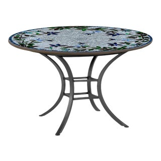 """Royal Hummingbird 42"""" Bistro Table with Black Base For Sale"""